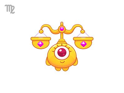 ♎Libra kawaii astrologia astrology zodiaco zodiac illustration character design character gold balanza scales balance air libra