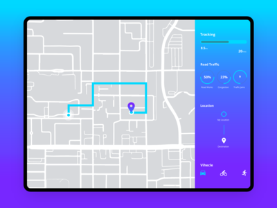 #DailyUI  Day #020 Location Tracker
