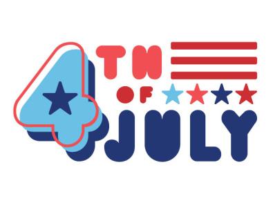 4th of July logo design graphic design