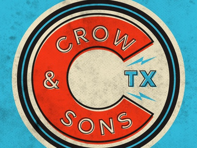 Crow & Sons sign design garage logo graphic design