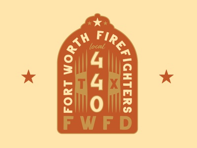 Fort Worth Firefighters western desert colors southwest illustration branding brand and identity