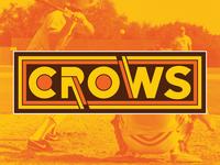 """""""CROWS"""" Retro Baseball Logo"""