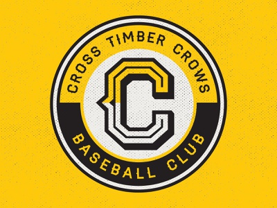 Cross Timber Crows - Circle Patch Logo baseball brand and identity design sports logo design logo