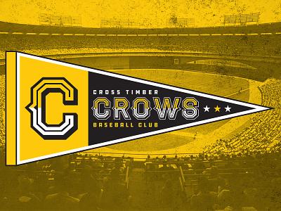 Cross Timber Crows - Pennant pennant baseball sports design sports design