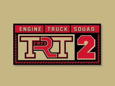 Fire Dept TRT Station 2 gold red fire department vector design