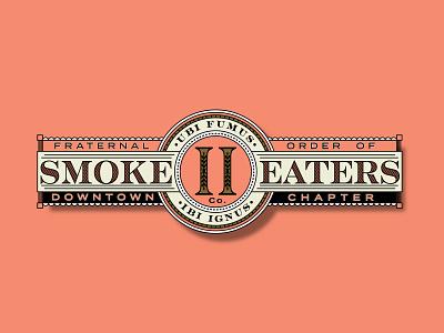 Fraternal Order of Smoke Eaters label cigar brand and identity design logo design logo