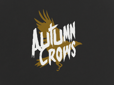Autumn Crows band logo (Rejected) metal band logotype typograpgy crows crow logotypes death metal metal rock band logos band logo autumn crows