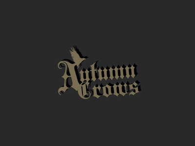 Autumn Crows band logo (Rejected) crow metal band logo death metal metal band logo rock band logotype autumn crows