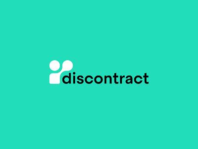 Discontract Logotype brand design branding icon logotype logodesign