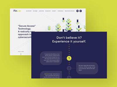 Fincor Website Design exchange platform exchange startup finance animation illustration ux ui web website blockchain crypto colors bright vivid green purple