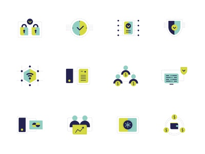 Fincor Icons Set crypto exchange platform exchange blockchain finance icon set icons icon