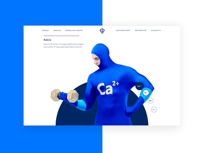 Vytautas Mineral Water Characters product water minerals gif photoshoot dynamic uiux ux ui website interaction animation blue