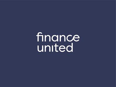 Finance United branding typography logotype logo branding pattern modular blue united consulting finance