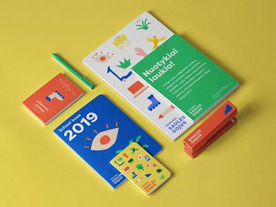 Saulės Gojus | Kindergarten & school branding illustrations logo stationary learn learning study pupil colorful bright branding education kindergarden school