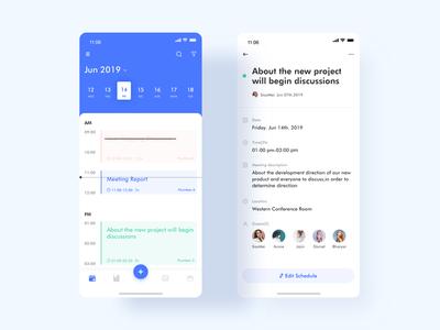 Meeting schedule app design