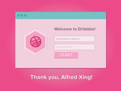 Thank You, Alfred! debut ui design interface flat