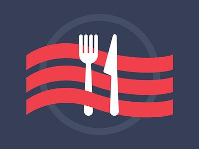 Eat! icons illustration flat glyphs navy food design
