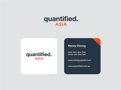 Quantified Asia Branding branding flat asia logo design card business