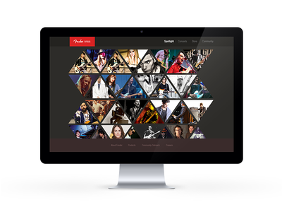 UI Design - Fender Artists Page ui design web flat branding ux