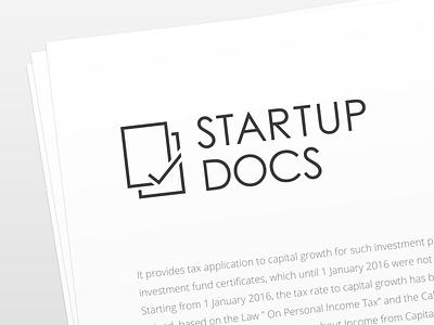 StartupDocs Logo logo design startup line icon