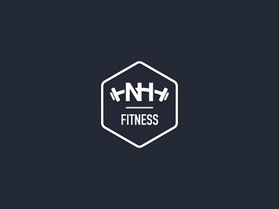 NH Fitness Logo design fitness logo