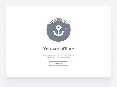 Error message: You are offline offline waves error anchor