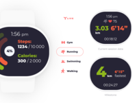 Running flow for wearable health tracker concept