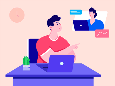 Work From Home Illustration figma workfromhome flat design illustration