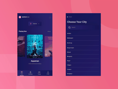 App About Purchasing Film Ticket icon uiux ui film ticket booking mobile app welovedesign dribbble debut app