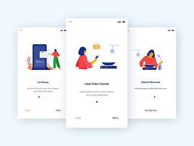 Cook Apps web vector ui illustration flat design branding app