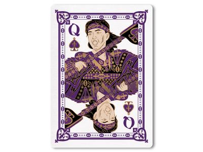 44A Trump card / Spade Q