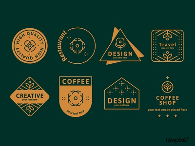 Logos on green