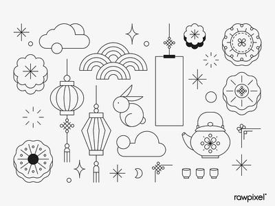 Mid-autumn Festival Design Set