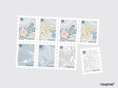 Botanica Stamps Set