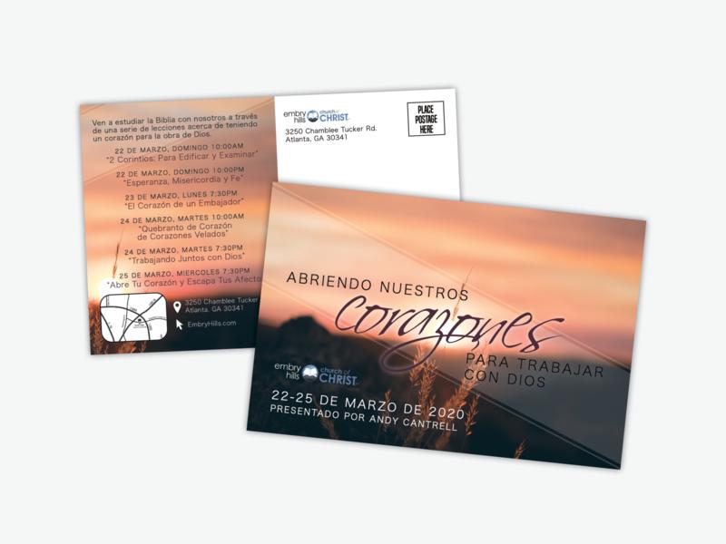 Spanish Postcard Design design print graphic design postcard design postcard spanish
