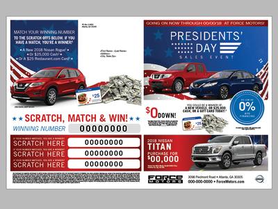 Automotive Presidents' Day Mailer