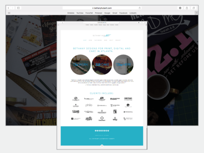 Graphic Designer's Website Design