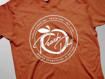 Peach Pod Tshirt Design