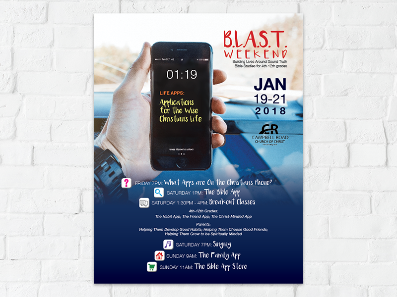Youth Weekend Flyer print lecture study advertisement flyer design graphic design
