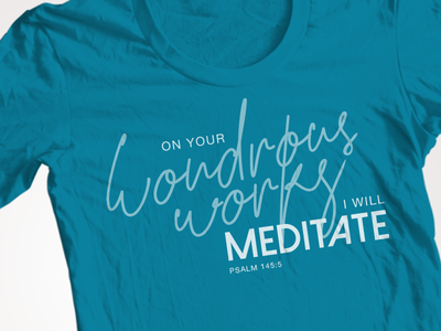 Camp T-shirt Design bible verse typography t-shirt