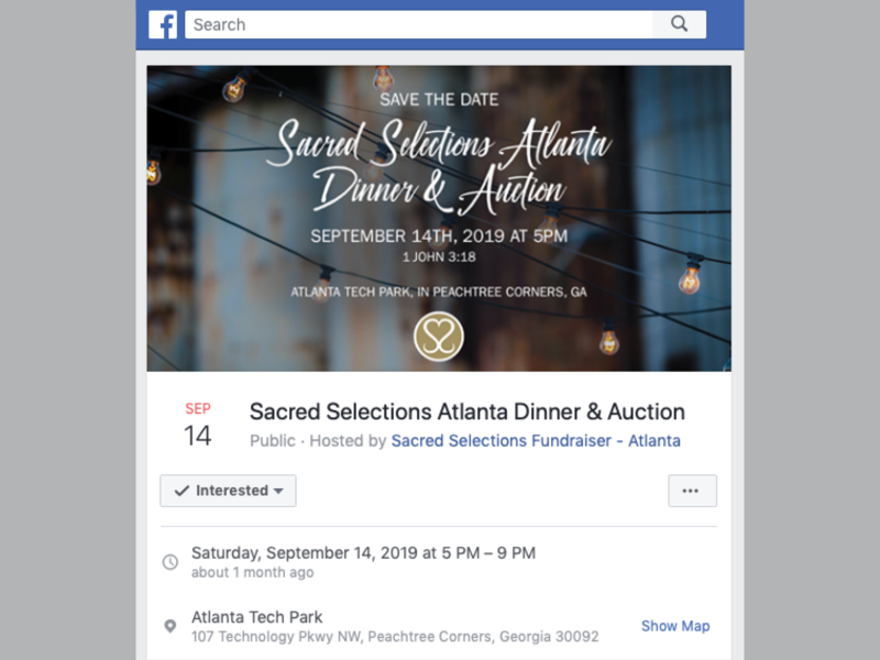 """""""Sacred Selections"""" Facebook Event Cover Image digital design facebook cover sacred selections"""