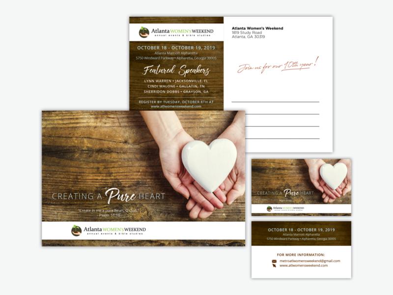 Event Postcard and Business Card business card postcard design event