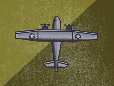 Old Army Toy Plane