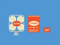 Buns, Chips and Dip