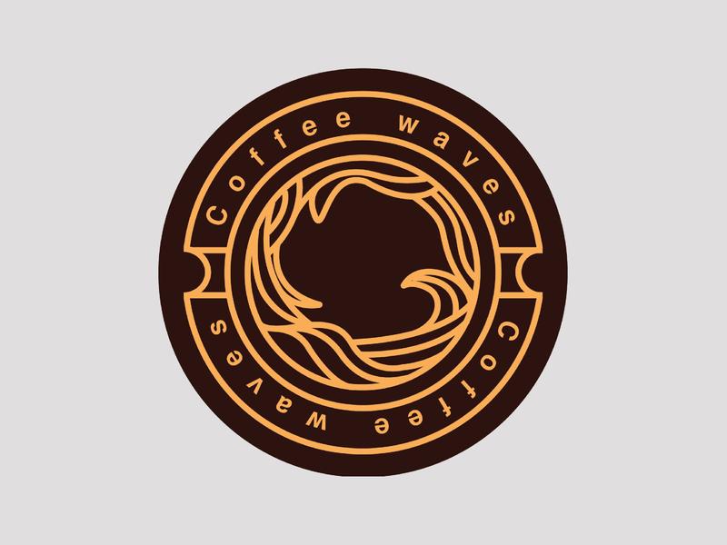 Coaster Design debut emblem logo emblems digital illustrator digital art digital ads wacom adobe illustrator cc adobe coffee debut coaster challenge illustration coffee logo wave logo waves coffee coaster coaster design