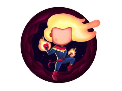 Captain Marvel Illustration   Women's Day Special