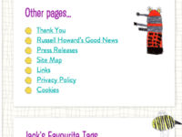 Jack Draws Anything - sidebar + pages + tags