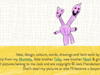 Jack Draws Anything - footer + dinosaur