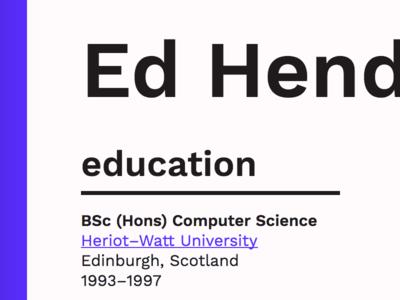 my new resume by ed henderson dribbble