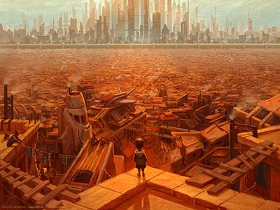 Sos Dribbble Cover dystopian illustration utopian sci fi concept art book cover